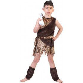 Oerie De Holbewoner Kind Kind Kostuum