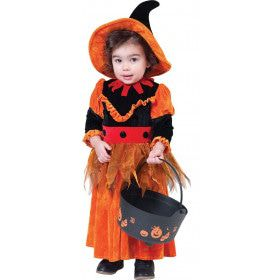 Pumpkina De Pompoen Heks Meisje Kostuum