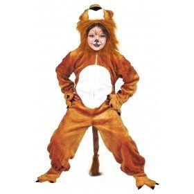 Bruine Simba Leeuw Jumpsuit Kind Kostuum