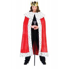 Rode Hermelijnen Koning Arthur Mantel Cape Kostuum