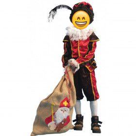 Zwart-Rode Piet Kind / Tiener Kind Kostuum