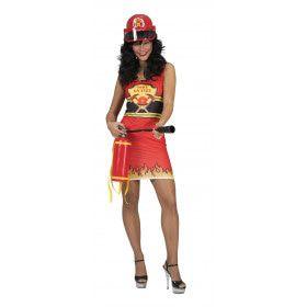 Hete Brandweervrouw Nyc Kostuum