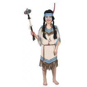 Daverende Donderwolk Indiaan Meisje Kostuum