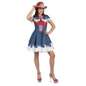Lenige Lia Line Dance Cowgirl Vrouw Kostuum