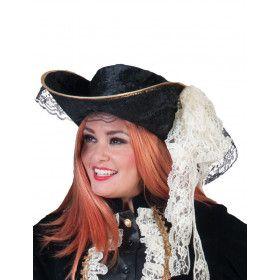Chique Hoed Pirate Black Jackie