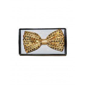 Flamboyante Vlinderdas Met Pailletten Goud