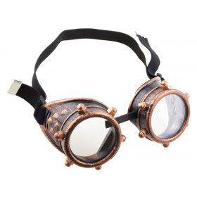 Bronzen Steampunk Bril