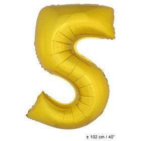 Ballon Nummer 5 Goud