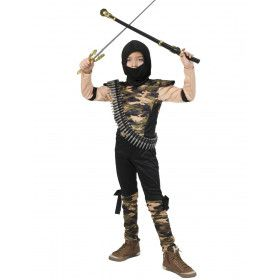 Speciale Commandotroepen Ninja Jongen Kostuum