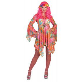 Caleidoscopisch Psychedelisch Hippie Vrouw Kostuum