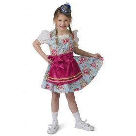 Tiroler Dirndl Rosalinde Meisje Kostuum