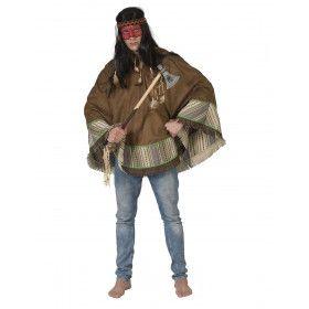 Poncho Wappo Indiaan Wilde Westen Amerika Man Kostuum