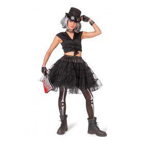 Zwarte Glitter Petticoat Vrouw