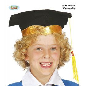 Hoed Student Met Gouden Rand