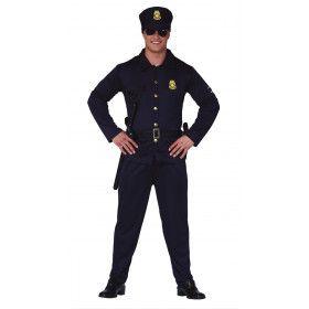 Halt Of Ik Schiet Politie Agent Man Kostuum
