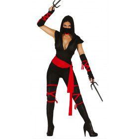 Flitsend Ninja Vrouw Kostuum