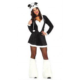 Pikante Panda Vrouw Kostuum