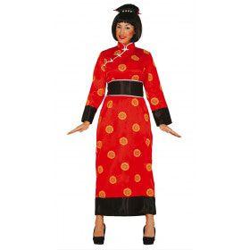 Traditioneel Chinees Kostuum Rood Vrouw