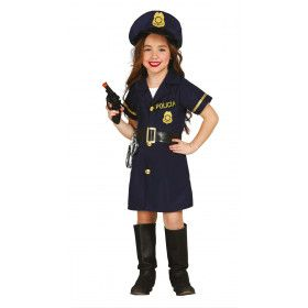 Moedige Mandy Politie Meisje Kostuum