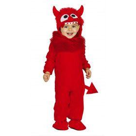 Razend Rood Monster Jongen Kostuum