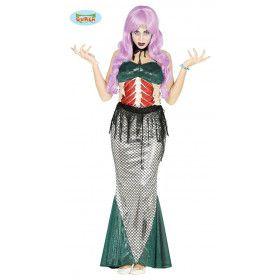 Miss Visgraat Zeemeermin Vrouw Kostuum