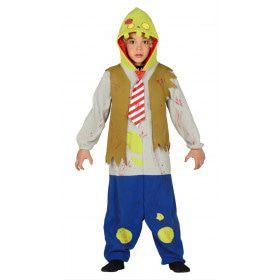 Misselijke Groene Zombie Kind Kostuum