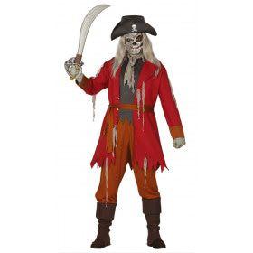 Slag Verloren Maar Niet Dood Te Krijgen Zombie Piraat Man Kostuum