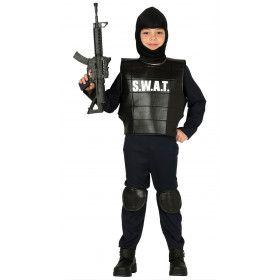 S.w.a.t. Agent Anti Terroristen Brigade Jongen Kostuum