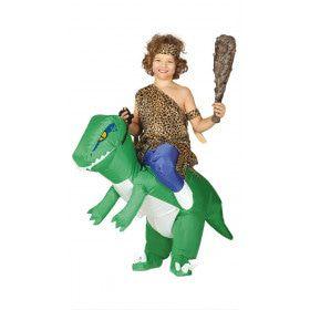 Wie Durft Te Rijden Op Een Opblaasbare Dinosaurus Broek Kind Kostuum