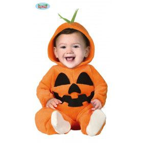 Breeduit Lachende Halloween Pompoen Kind Kostuum