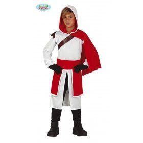 Meedogenloze Kruisvaarder Ridder Soldaat Middeleeuwen Jongen Kostuum