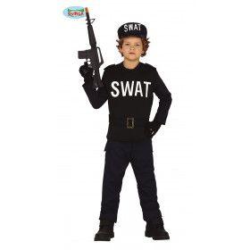 Kordate Swat Officier Jongen Kostuum