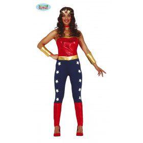 Supersterke Superheldin Vrouw Kostuum