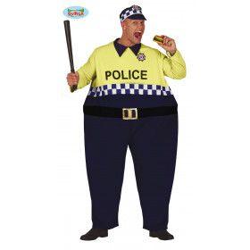 Bolle Verkeersagent Politie Man Kostuum