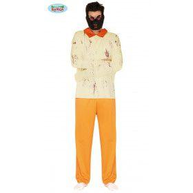 Gevaarlijke Bijtgrage Seriemoordenaar Gevangenis Man Kostuum