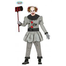 Krankzinnige Killer Clown Halloween Man Kostuum