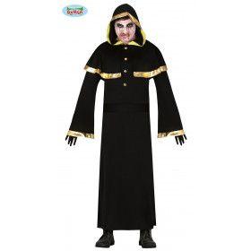 Professor In De Duistere Magie Tovenaar Man Kostuum