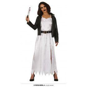 Moordlustige Poppen Bruid Tiffany Vrouw Kostuum