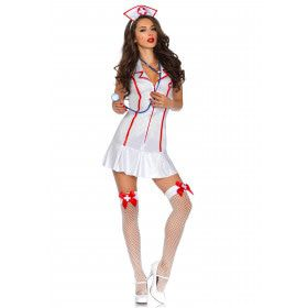 Sexy Ms Emergency Verpleegster Driedelige Set Vrouw Kostuum