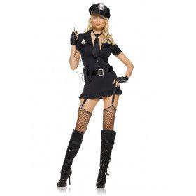 Stoute Politieagente Vrouw Kostuum
