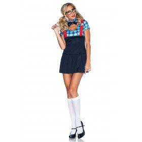 Sexy Nerdy Schoolmeisje Vrouw Kostuum