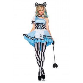 Psychedelische Sexy Alice In Wonderland Vrouw Kostuum