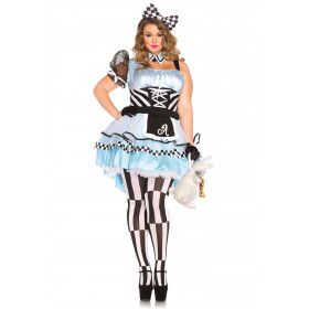 Psychedelische Sexy Alice In Wonderland Plus Size Vrouw Kostuum