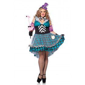 Halloween Mad Hatter Jurk Plus Size Vrouw