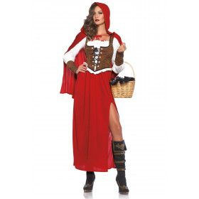 Lange Roodkapje Sprookjesjurk Vrouw