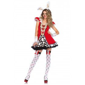 Hartenkoningin Bunny Kostuum Vrouw