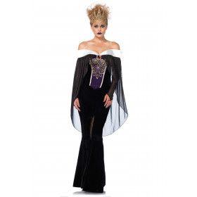 Gothische Koningin Amadelia Vrouw Kostuum
