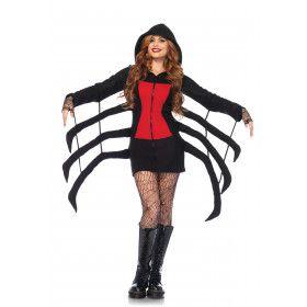 Sexy Vrouwelijke Spin Zwarte Weduwe Kostuum