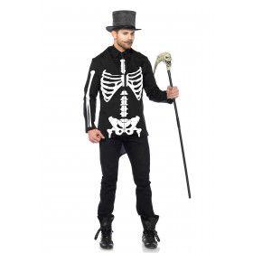 Skelet Keurige Heer Man Kostuum