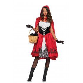 Klassiek Roodkapje Vrouw Kostuum